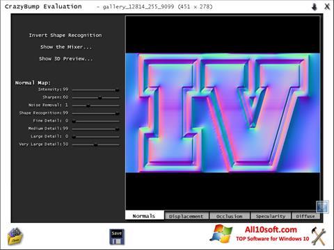 Скріншот CrazyBump для Windows 10