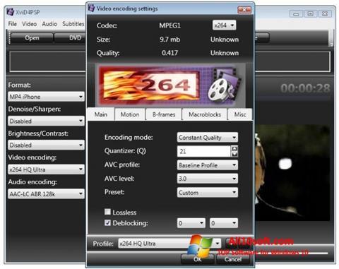 Скріншот XviD4PSP для Windows 10