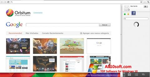 Скріншот Orbitum для Windows 10
