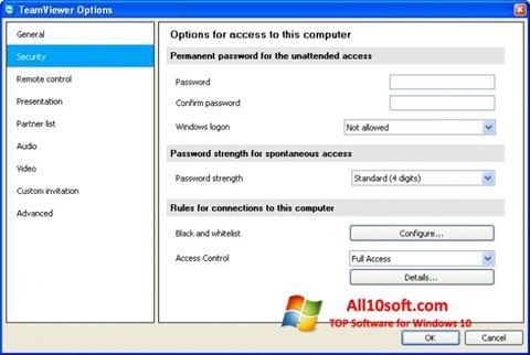 Скріншот TeamViewer для Windows 10
