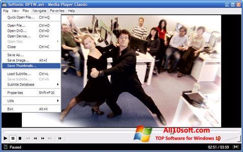 Скріншот Media Player Classic для Windows 10