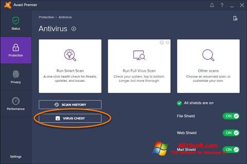 Скріншот Avast для Windows 10