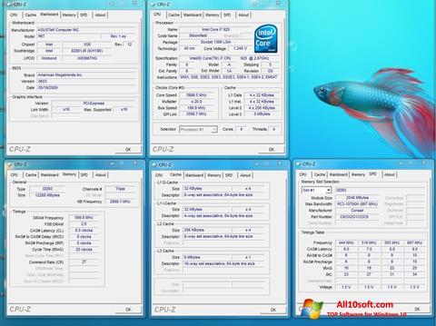 Скріншот CPU-Z для Windows 10
