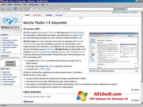 Скріншот Mozilla Firefox для Windows 10