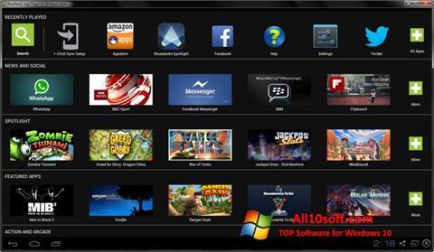Скріншот BlueStacks для Windows 10