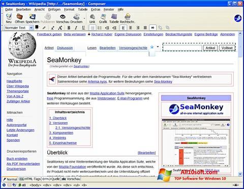 Скріншот SeaMonkey для Windows 10