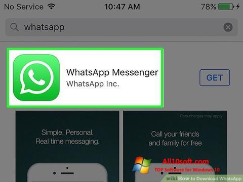 Скріншот WhatsApp для Windows 10