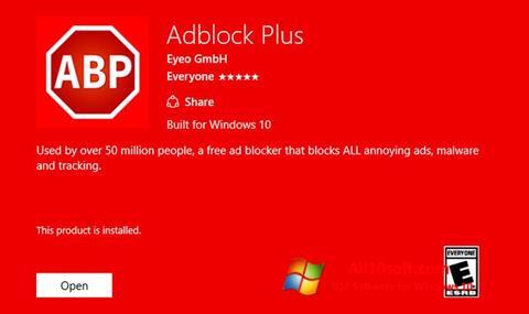 Скріншот Adblock Plus для Windows 10
