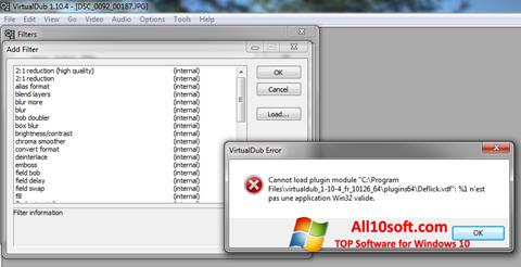 Скріншот VirtualDub для Windows 10